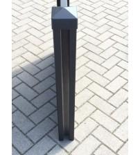 Aluminium Zaunpfosten 2850x100x100 mit Deckel, schwarz