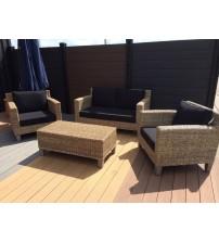 Rattan Lounge-Set für 4 Personen
